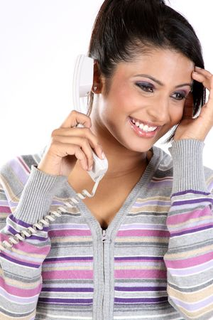 teenage girl with the telephone Stock Photo - 6624391
