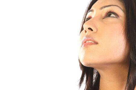 sidewards: Sidewards face of indian woman