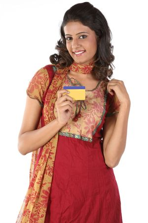 woman with credit card photo