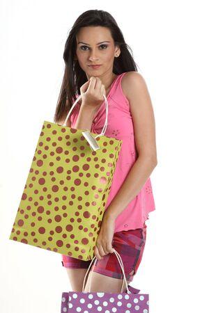 nags: indain adolescente con las compras i.r.  Foto de archivo