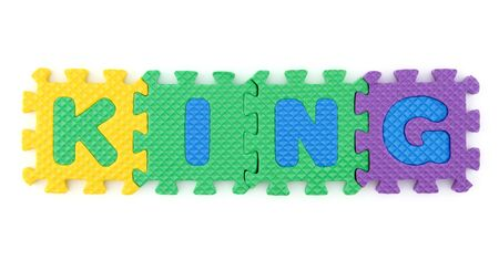 KING Word arranged with alphabet puzzle Stock Photo - 7108448