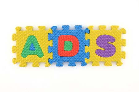 ADS word arranged with puzzle letters Stock Photo - 7108445