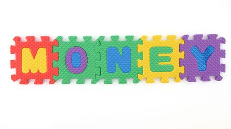 Money word arranged with alphabets  Reklamní fotografie