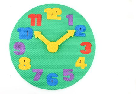 midday: Colorful toy clock