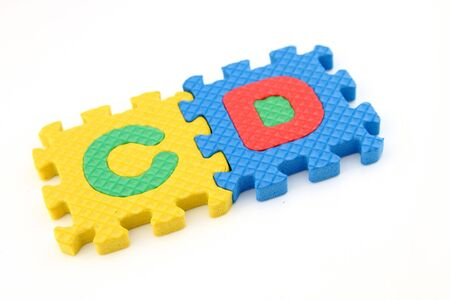 Cd word in alphabet puzzle Stock Photo - 7108412