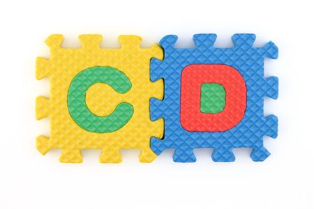 Cd word in alphabet puzzle Stock Photo - 7108457