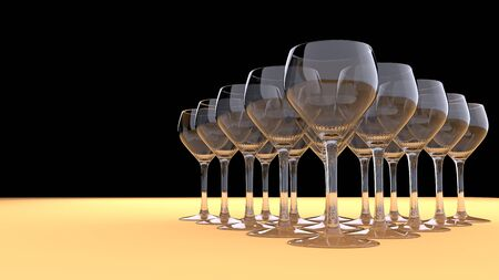Triangle of glasses - front view Stock Photo - 15825077