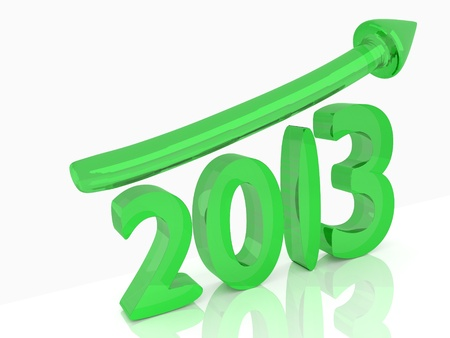 Growth of year 2013 Stock Photo - 16433651