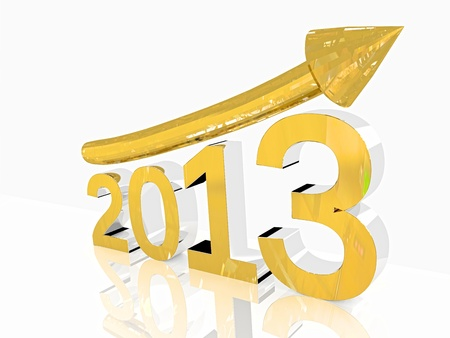 Golden growth of year 2013 Stock Photo - 16641017