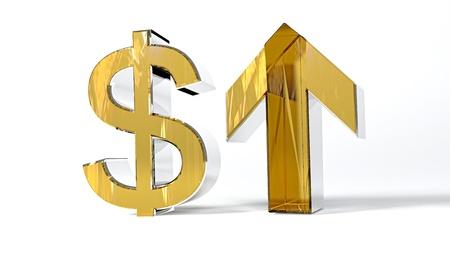 Growth of dollar Stock Photo - 16698755