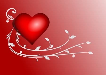 Illustration of valentine heart on abstract background  Stock Photo