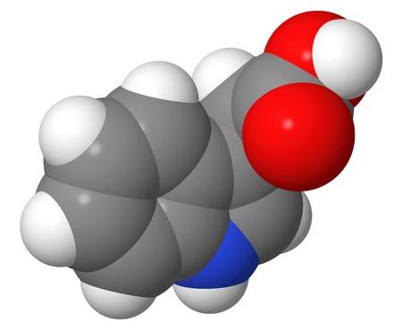 Plant hormone - Auxins - Indole-3-acetic acid (IAA) - spacefill molecular model Stock Photo - 17123842