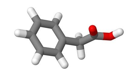 alargamiento: Planta hormona - Auxinas - �cido fenilac�tico - PAA - Palitos de modelo Foto de archivo