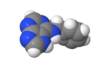 elongacion: Hormona vegetal - Las citoquininas - bencil adenina - BAP - spacefill