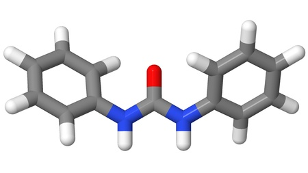elongation: Plant hormone - Cytokinins - Diphenylurea - sticks model Stock Photo