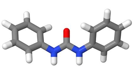 Plant hormone - Cytokinins - Diphenylurea - sticks model Stock Photo - 17613562
