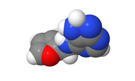 elongacion: Hormona vegetal - Las citoquininas - Kinetin - spacefill modelo molecular