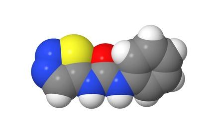 elongacion: Hormona vegetal - Las citoquininas - Thidiazur�n - TDZ - modelo spacefill Foto de archivo