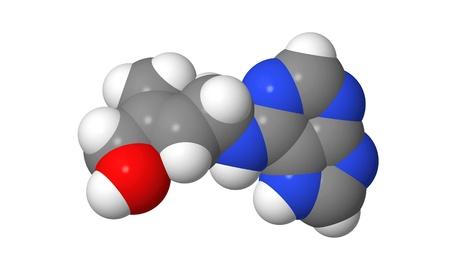 elongacion: Hormona vegetal - Las citoquininas - Zeatin - spacefill modelo molecular Foto de archivo