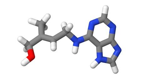 Plant hormone - Cytokinins - Zeatin - sticks molecular model Stock Photo - 17613519