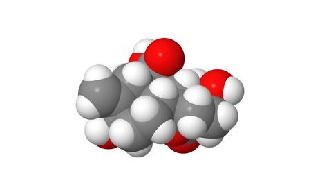 elongacion: Hormona vegetal - giberelina - A1 - modelo molecular spacefill