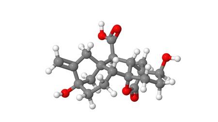 Plant hormone - Gibberellin - A1 - molecular model