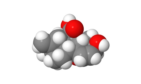 phytohormone: Plant hormone - Gibberellin - A3 - spacefill molecular model Stock Photo