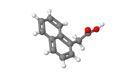 alargamiento: Hormona vegetal - auxinas sint�ticas - NAA - modelo molecular Foto de archivo