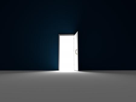 Enter the light - 3D rendered Stock Photo - 18151454