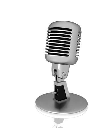Silver vintage microphone Stock Photo - 18411172