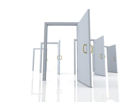 Open doors - possibilities Stock Photo - 19569108