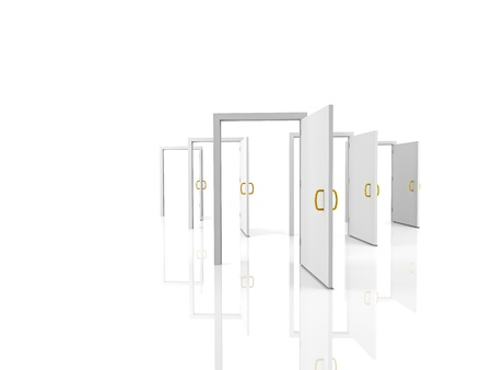 Open doors - welcome, choice, opportunity concept  Stock Photo - 19569107