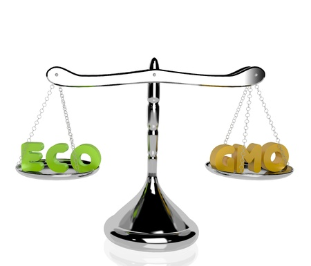 eco vs gmo Stock Photo - 20779951