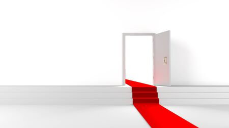 sucsess: Open doors with red carpet