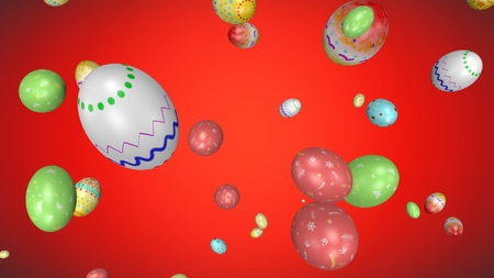 Easter eggs - abstract three dimensional concept photo