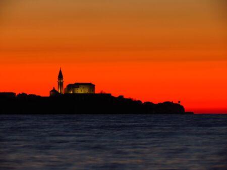 Piran at sunset
