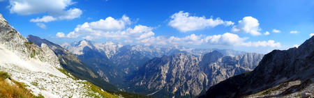 Julian Alps - panoramic view Stock Photo