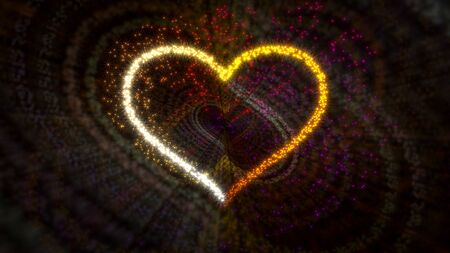 Heart with sparks