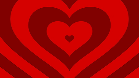 coming out: Hearts coming out - red variant Stock Photo