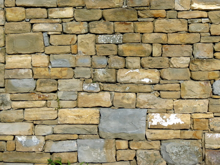 Wall of stones texture background