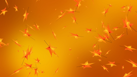 Autumn leaves, happy thanksgiving greeting fall Stock Photo