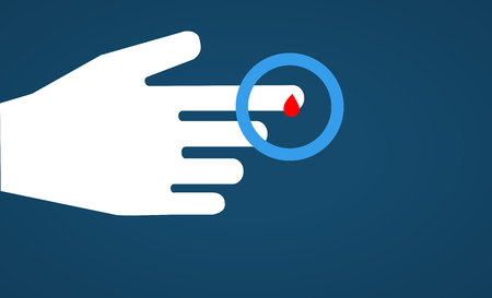 round: World diabetes day, concept, illustration, symbol. 3D rendering