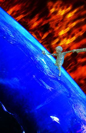 Global Warming - Earth gets more and more dangerous in many ways, e.g. through global warming, caused by the greenhouse effect, or the burning of natural ressoures such as oil and gas. So, humanity has to leave Earth in a worst Case Scenario. photo