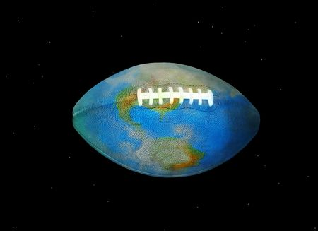 Football Earth in Space - The World of American Football and Rugby photo