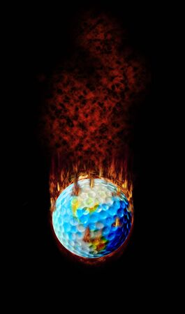 hottest: Golf - Hottest topic on earth! Stock Photo