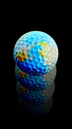 Golf Ball Earth rises after hit photo