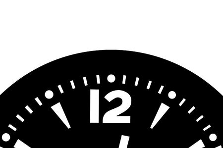 12 o'clock: Time is running - Clock detail - A bit after 12 o clock Stock Photo