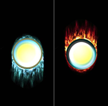 unpressed: put on the unpressed ice and pressed fire button what you want