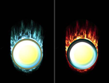 unpressed: Coloque en su unpressed de hielo y fuego presionado bot�n lo que desea