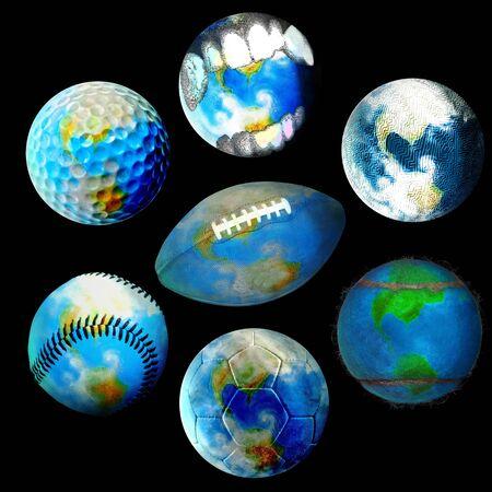 Several globes photo